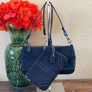 COACH SET. Mini Demi bag & matching wristlet